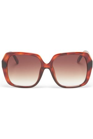 Le Specs Frofro Oversized Square Sunglasses - Womens - Tortoiseshell
