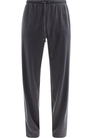 Zimmerli Drawstring Cotton-blend Jersey Track Pants - Mens - Dark
