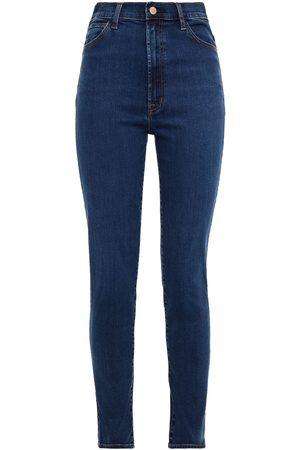 J Brand Women Slim - Woman 1212 Runway High-rise Slim-leg Jeans Mid Denim Size 25