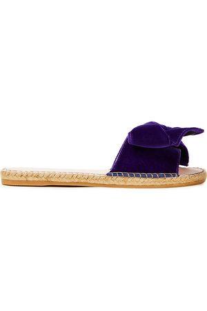 MANEBÍ Women Sandals - Manebí Woman Hamptons Bow-embellished Velvet Slides Size 35