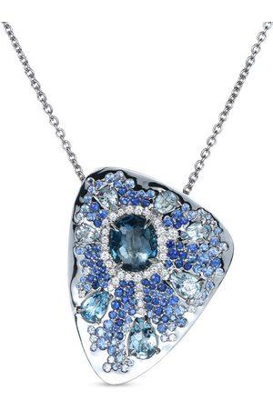 RODNEY RAYNER 18kt white gold Starburst necklace