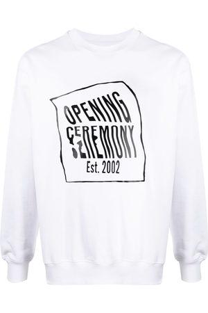 Opening Ceremony Warped-logo cotton sweatshirt