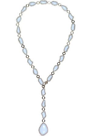 CHANTECLER 18kt rose gold Kogolong diamond and white chalcedony necklace