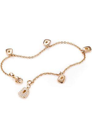 MATTIOLI 18kt rose gold diamond charm bracelet