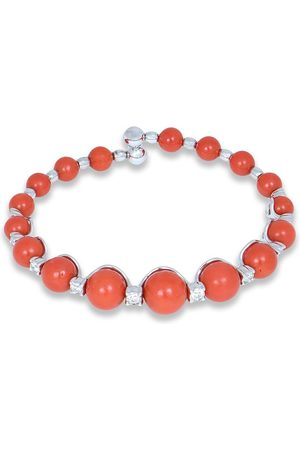 CHANTECLER 18kt white gold Spring coral and diamond