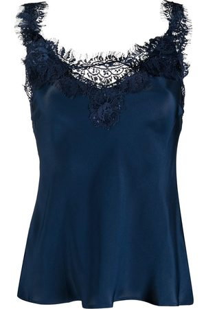 Gold Hawk Lace panel silk blouse
