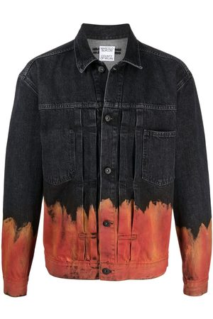 MARCELO BURLON Flame-print denim jacket