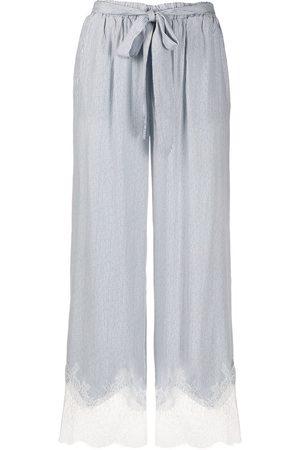 Gold Hawk Striped wide-leg trousers