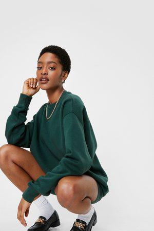 NASTY GAL Womens Oversized Sweatshirt and Biker Shorts Set