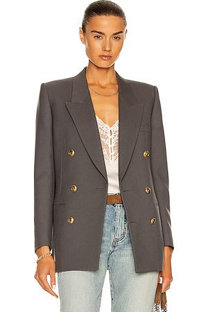 Saint Laurent Tailored Jacket in Ardoise
