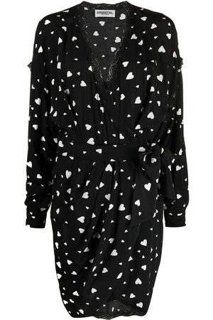 Essentiel Antwerp Zuffalo heart-print wrap dress