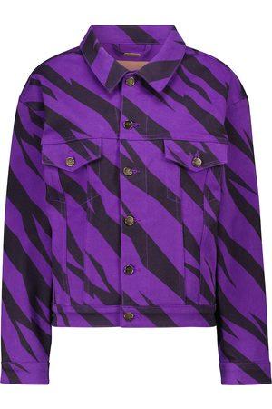 ALEXANDRE VAUTHIER Animal-print denim jacket