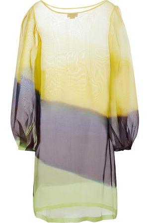 DRIES VAN NOTEN Striped silk organza midi dress