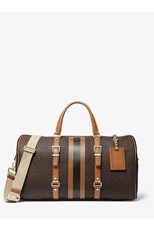 Michael Kors Women Handbags - MK Bedford Travel Extra-Large Logo Stripe Weekender Bag - Brn/acorn - Michael Kors