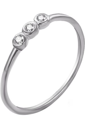The Love Silver Collection Sterling Trio Bezel Cz Ring