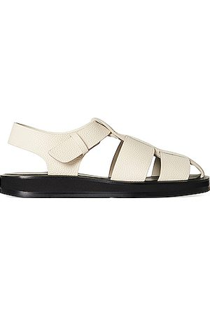 The Row Women Sandals - Fisherman Leather Sandals in Ivory