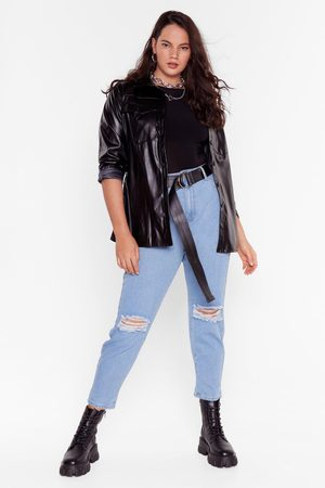 NASTY GAL Womens Mom's the Word Plus High-Waisted Jeans