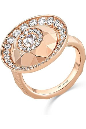 David Morris 18kt rose Cut Forever Single Disc ring