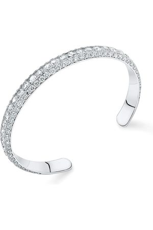 David Morris 18kt Pearl Rose rose cut diamond bangle