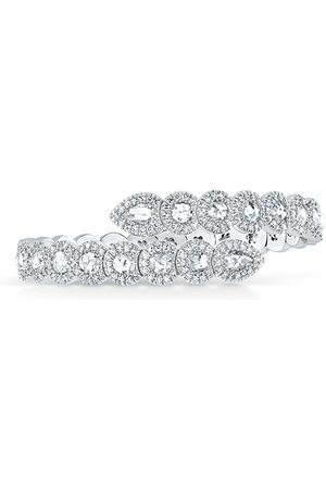 David Morris 18kt Rose Cut Diamond Flexi 2/3 set bangle