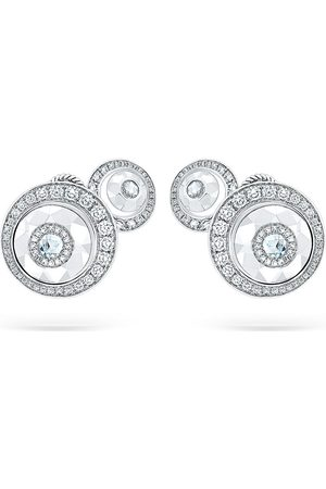 David Morris 18kt diamond Rose Cut Forever Double Disc earrings