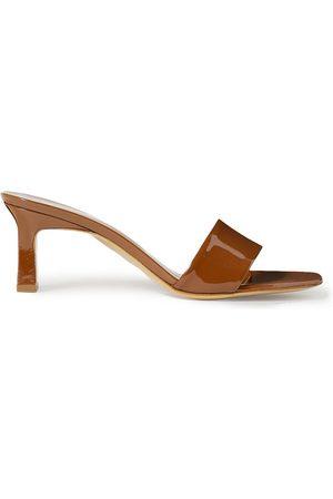 SIMON MILLER Women Sandals - Woman Solo Patent-leather Mules Size 37