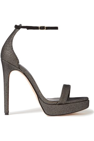 ALEXANDRE BIRMAN Women Sandals - Woman Cindy Mesh And Metallic Leather Platform Sandals Size 37