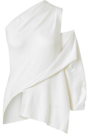 MONSE Women Tops - Woman Asymmetric One-shoulder Merino Wool Top Cream Size L