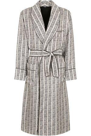 Dolce & Gabbana Striped belted robe - Neutrals