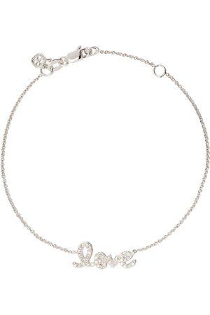 Sydney Evan 14kt diamond love bracelet