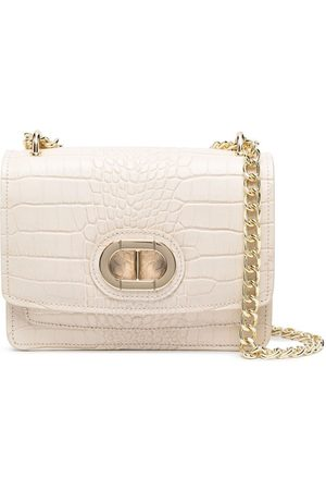 DEE OCLEPPO Crocodile effect shoulder bag