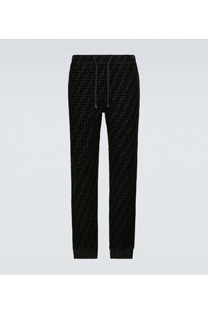 Fendi Men Trousers - FF velvet sweatpants