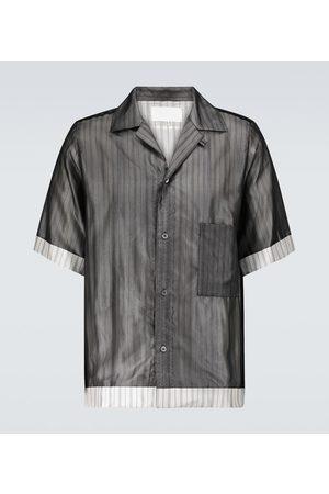 Maison Margiela Pinstriped short-sleeved shirt