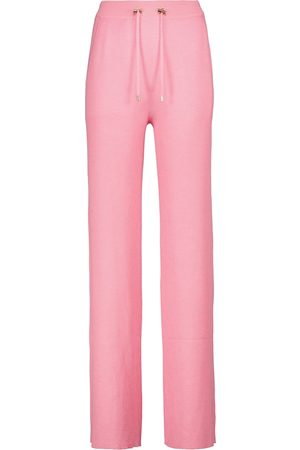 Balmain Women Trousers - High-rise cashmere-blend sweatpants
