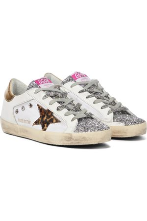 Golden Goose Women Trainers - Superstar leather-trimmed sneakers