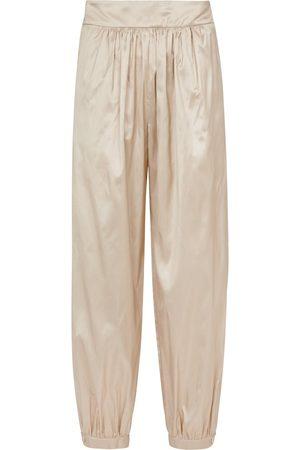 Max Mara Frizzo tapered silk shantung pants