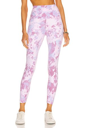 Beyond Yoga High Waisted Midi Legging in Orchid Haze Cosmic Dye