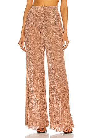 ALEXANDRE VAUTHIER Knitted Wide Leg Pant in Coral