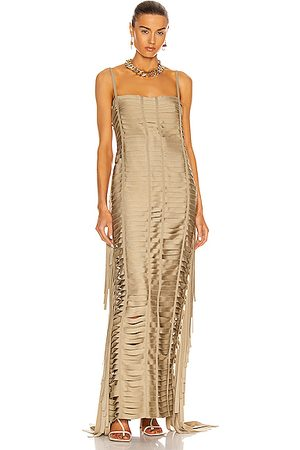 Givenchy Women Evening Dresses - Ribbon Effect Long Dress in
