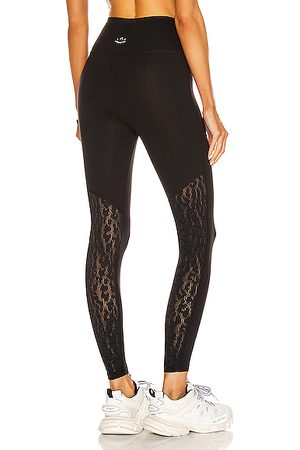 Beyond Yoga Mesh It Up High Waisted Midi Legging in Jet