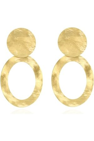 LOTT. gioielli Earrings - Earring Oval Hammerd XL - - Earrings for ladies