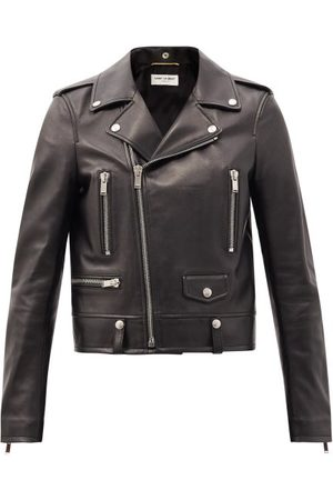 Saint Laurent Women Blazers - Leather Biker Jacket - Womens