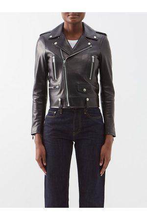 Saint Laurent Women Blazers - Leather Biker Jacket - Womens