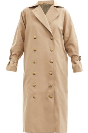 Totême Double-breasted Cotton-blend Gabardine Trench Coat - Womens