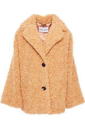 Stand Studio Women Summer Jackets - Woman Merilyn Faux Shearling Jacket Sand Size 36
