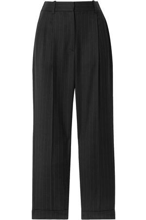 NILI LOTAN Women Trousers - Woman Montana Cropped Pinstriped Wool-blend Twill Tapered Pants Size 2