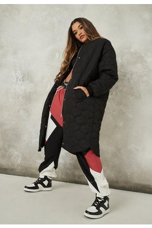 Missguided Petite Quilted Longline Oversized Bomber Jacket