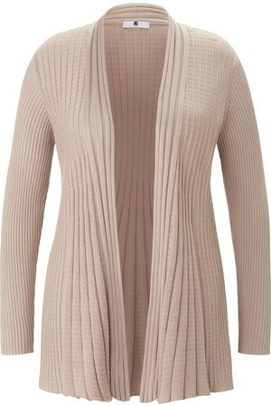 Anna Aura Open-front cardigan rib knit sleeves size: 24