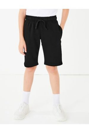 Marks & Spencer Girls Trousers & Shorts - Unisex Boys Girls 2pk Unisex Sport School Shorts - 3-4 Y - , ,Navy
