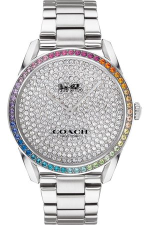 Coach Preston Stainless Steel With Rainbow Crystal Bezel And Pave Dial Watch